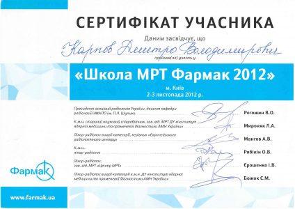 Certificate Karpov D.V 4