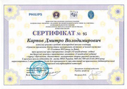Certificate Karpov D.V 6