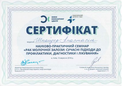 SHNAIDER Certificate 5
